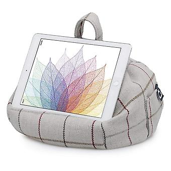 Ipad, tablet & ereader bean bag stand by ibeani - grey check