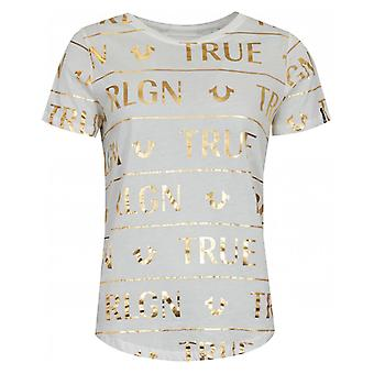 True Religion All Over Foil Logo T-shirt