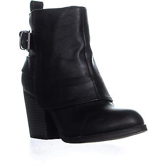 AR35 Lilah High Ankle Block Heel Boots, Black, 8.5 US