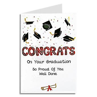 Embroidered Originals  Congrats On Your Graduation Mortars Scottish Card