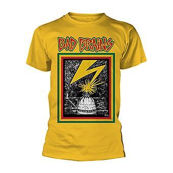 Gul dårlig hjerner rock punk officielle T-shirt