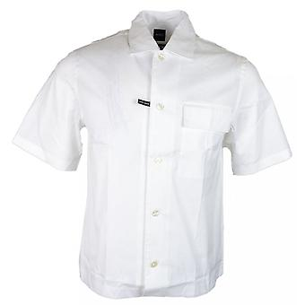 Hugo Boss Ned_p Relaxed Fit Short Sleeve White Shirt