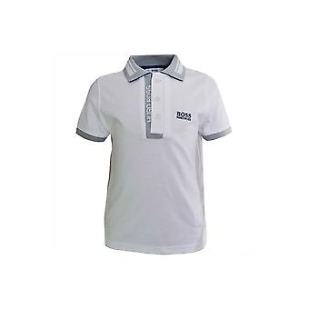 Hugo Boss Boys Hugo Boss Kids White Short Sleeved Polo Shirt