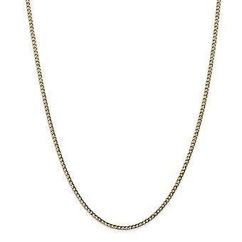 10k 2.5 mm ημι στερεά δώρα κοσμήματος βραχιολιών αστραγάλων αλυσίδων συνδέσεων συγκρατήσεων για τις γυναίκες-μήκος: 7 έως 10