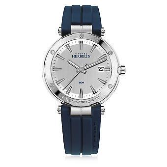Michel Herbelin 12288-12CB Men's Newport Blue Strap Wristwatch