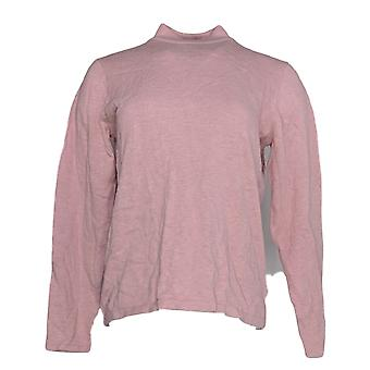 Joan Rivers Classics Collectie Dames's Sweater Mock Neck Roze A235228