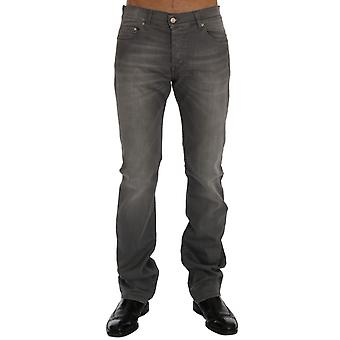 GF Ferre Gray Wash Cotton Stretch Straight Fit Jeans