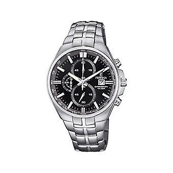 שעון קוורץ של festina גברים הכרונוגרף עם רצועת פלדת אל-חלד F6862-4