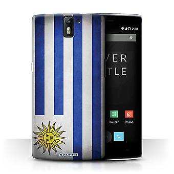 STUFF4 Case/Cover for OnePlus One/Uruguay/Uruguayan/Flags