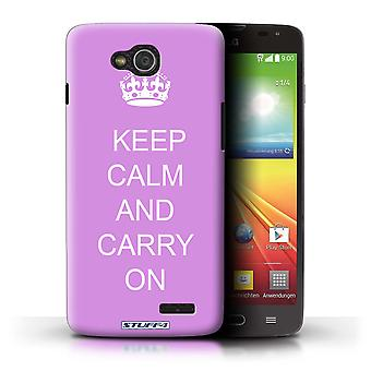 STUFF4 Case/Cover for LG L90 Dual/D410/Carry On/Pink/Keep Calm