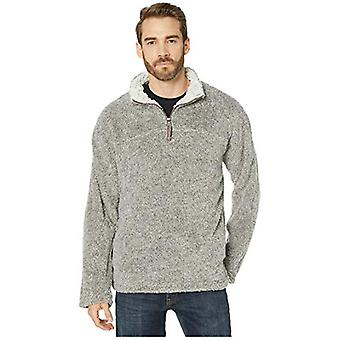 True Grit Melange Shag Sherpa Ultra Soft Coziest 1/4 Zip Pullover Charcoal MD