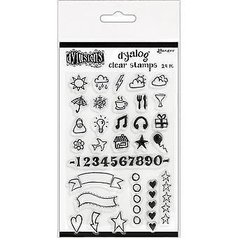 "Dyan Reaveley's Dylusions Clear Stamps 4""X8"" - The Full Package"
