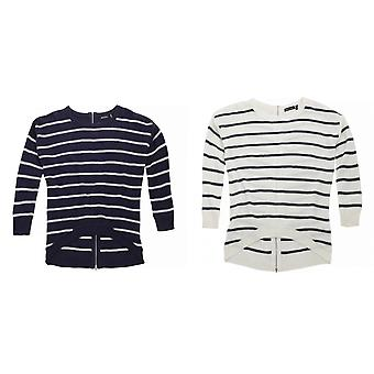 Brave Soul Womens/Ladies Anchor Striped Zip Back Jumper