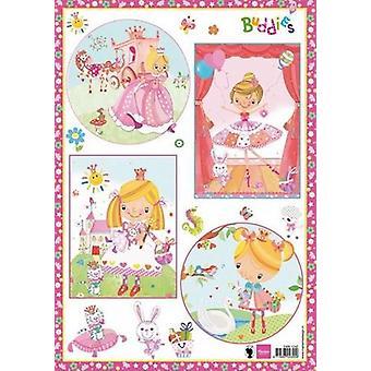 Marianne Design Decoupage sheet Buddies Girls EWK1242