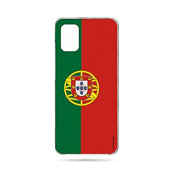 Hull For Samsung Galaxy A71 Flexible Portuguese Flag