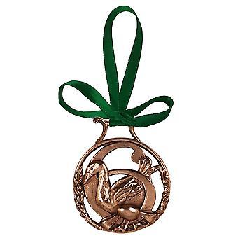 6. Tag der Weihnachten Ornament Kupfer