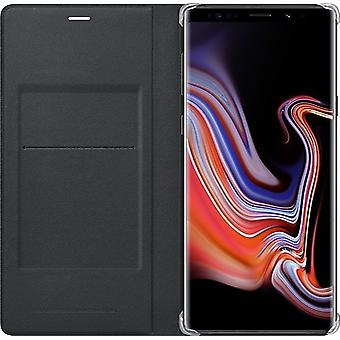 Samsung Leather View Cover for N960F Samsung Galaxy Note 9 - Black