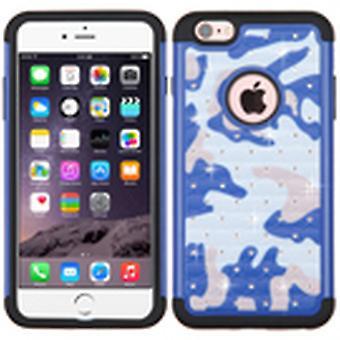 ASMYNA FullStar מגן במקרה עבור iPhone 6s פלוס/6 פלוס-כחול כהה (הסוואה)/שחור