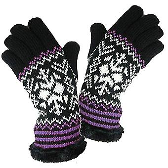RockJock Damskie rękawice Snow Flake Design Dzianinowy w pełni izolowany.