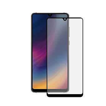 Gebogengehärtetes Glas Bildschirm Schutz Huawei Mate 20 KSIX 3D Negro