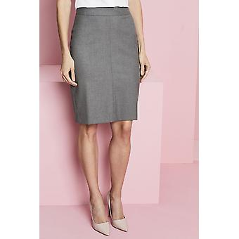 SIMON JERSEY Contemporary Pleat Back Skirt, Grey