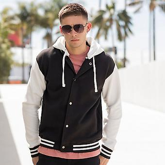 Skinni Fit Mens Heavy Weight Baseball Jacket With Detachable Hood
