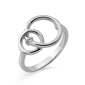 Orphelia Silver 925 Ring  Double rings with  rhodium  plated