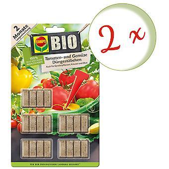 Sparset: 2 x COMPO BIO Tomaten- und Gemüse Düngestäbchen, 20 Stück