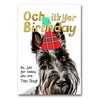 Embroidered Originals Och Its Yer Birthday Top Dug Card