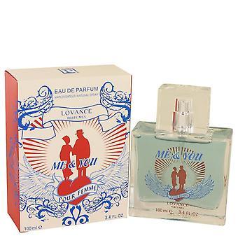 Me & You Eau De Parfum Spray By Lovance 3.3 oz Eau De Parfum Spray