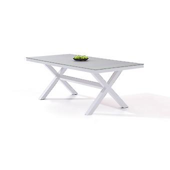 Alu Table à manger Iks 200 cm - blanc