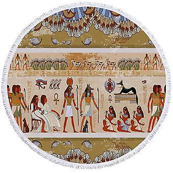 Muinainen egyptiläinen taide ranta pyyhe