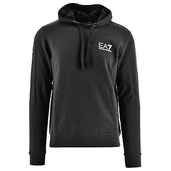 EA7 Black Hooded Sweatshirt