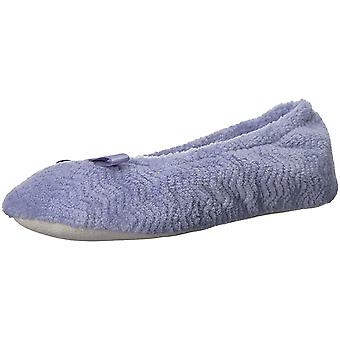 Isotoner Womens Chevron Microterry Closed Toe Slip On Slippers