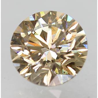 Cert 0,74 Karat hellbraun VVS2 Runde brillante natürliche lose Diamant 5,76m 3EX