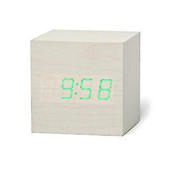 Reloj de alarma de madera digital Led