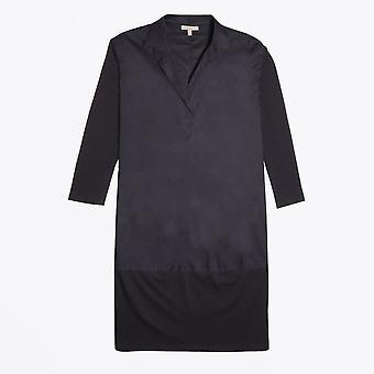Humilité - Robe Stretch Cotton Cocoon - Noir