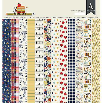 לוח נייר Authentique Scholastic 12x12 אינץ'