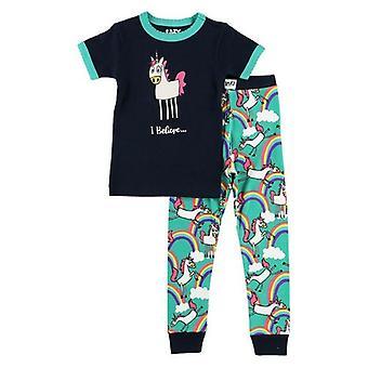 LazyOne Kinder/Kinder, die ich an Einhörner Kinder Pyjama Set glauben