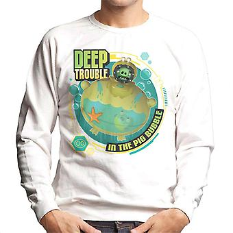 Vred Fugle Dybe Trouble Mænd's Sweatshirt