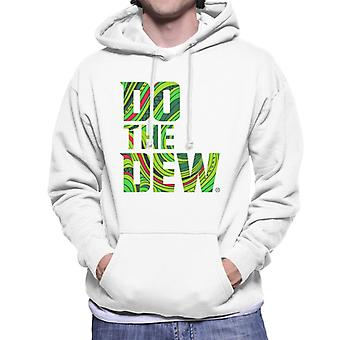 Mountain Dew Do The Dew Slogan Men's Hooded Sweatshirt