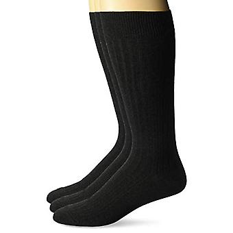 Brand - Buttoned Down Men's 3-Pack Premium Ribbed Soft Dress Socks, Charcoal, Shoe Size: 8-12