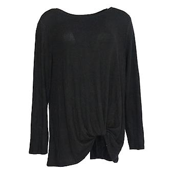 AnyBody Women's Top Brushed Hacci Relaxed Black A292753