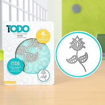 TODO Die Template Set Henna Flower
