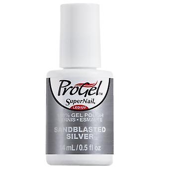 SuperNail ProGel Indigo Maven Gel Nail Polish Collection - Sand Blasted Silver 14ml