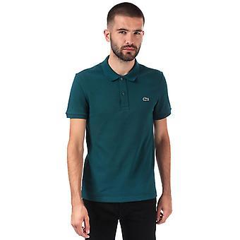 Menn&s Lacoste Slim Fit Petit Piqué Polo Skjorte i Grønt