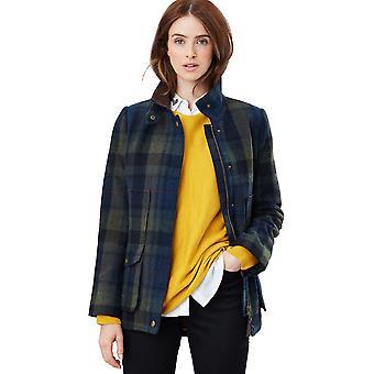 Joules mujer abrigo de campo equipado herencia inspirado abrigo de tweed