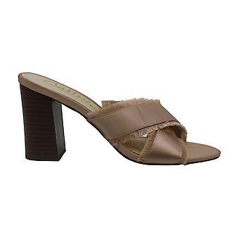 Callisto Monakko Fringe Slip On Sandals, Black, 9 US