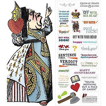 Paperitavarat - Queen of Hearts - Kortti ja tarra-arkki Uusi 0580