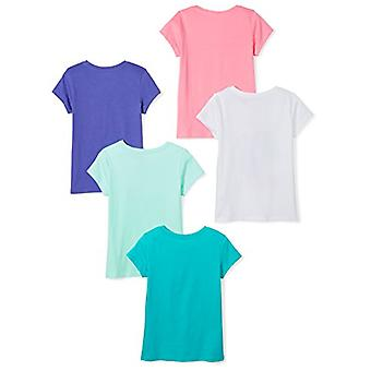 Brand - Spotted Zebra Toddler Girls' 5-Pack Short-Sleeve T-Shirts, Mag...